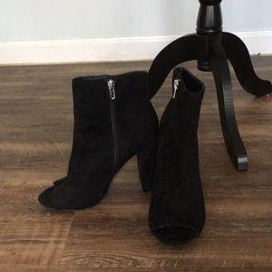 Wild diva open toed black boots